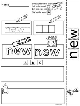 Sight Word Fry's 2nd 100 Practice Printables