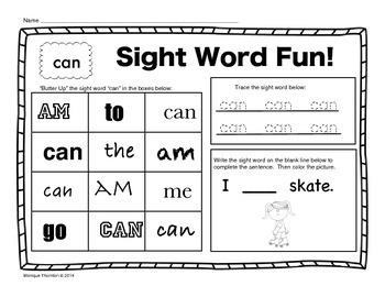 Sight Word Fun!