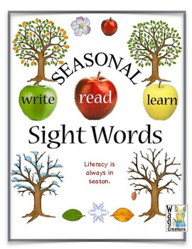 Sight Word Fun Trees and the Seasons. Literacy is always in season.