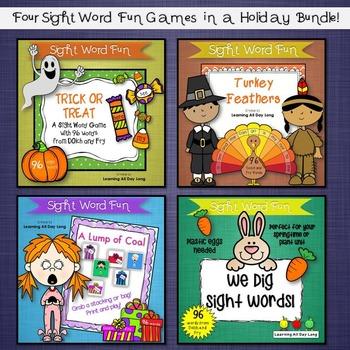 Sight Word Fun Bundle: Holiday Fun!