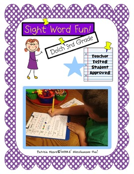 Sight Word Fun!  Dolch 3rd Grade