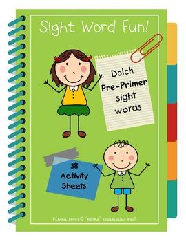 Sight Word Fun!  Dolch Pre-Primer