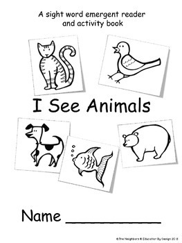 """Sight Word Practice Featuring """"I & see"""""""