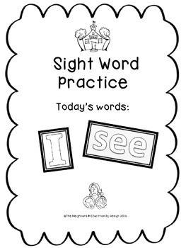 "Sight Word Practice Featuring ""I & see"""