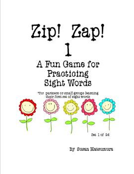 Sight Word Fun Game Zip Zap 1