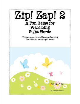 Sight Word Fun Game Zip! Zap! 2