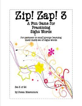 Sight Word Fun Game:  Zip! Zap! 3