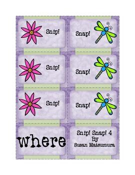 Bundled! Sight Word Fun Games:  Snip! Snap! Sets 1-9