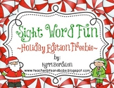 Sight Word Fun-Holiday Edition FREEBIE!