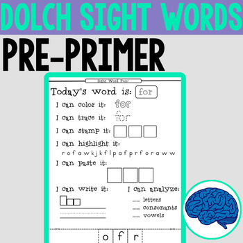Sight Words Fun! | Pre-Primer Dolch Words