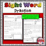 Sight Word Activity Worksheets: Pre-Primer Edition