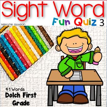 Sight Word Fun Quiz First Grade