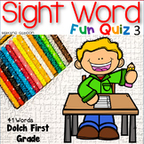 Sight Word Fun Quiz First Grade