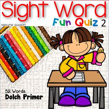 Sight Word Fun Quiz Primer