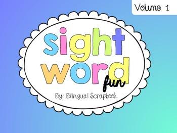 Sight Word Fun {Volume 1}