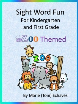 Sight Word Fun for Kindergarten and First Grade Zoo Animals