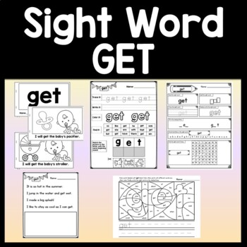 Sight Word GET {2 Sight Word Books and 4 Worksheets!}