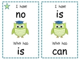 Owl Sight Word Game