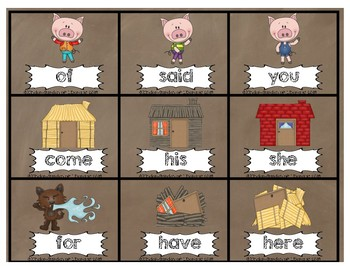 Sight Word Game-3 Pigs-BUMP IT!