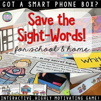 Fun Sight Word Game Using Smart Phone Boxes K-3 | Distance Learning