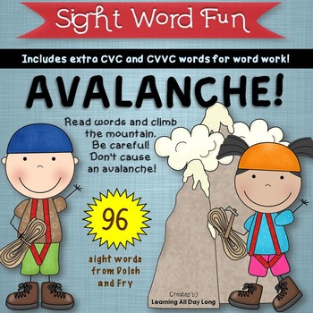 Sight Word Game: Avalanche!