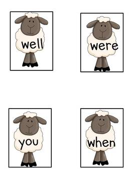 "Sight Word Game-""Back to the Barn"""