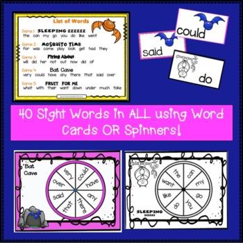 Sight Word Game - Bat BUMPER {EDITABLE}