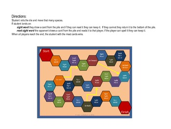 Sight Word Game Board