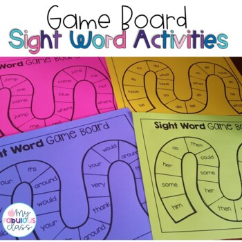 Sight Word Game Boards