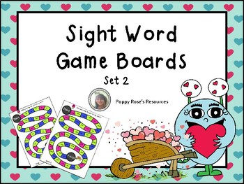 Sight Word Game Boards Set 2