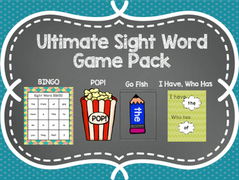 Sight Word Game Bundle!