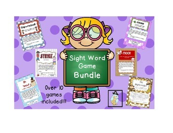 Sight Word Game Bundle: FRY words 1-500