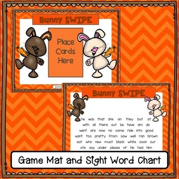 Sight Word Game -Bunny SWIPE {EDITABLE}