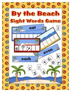 Sight Word Game By the Beach theme - over 450 word cards - Reading Spelling