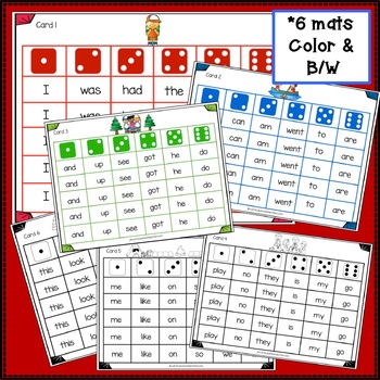 Sight Word Game - Camping Friends Roll & Cover