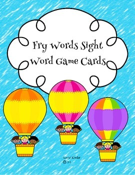 Sight Word Game Cards (Fry Words)