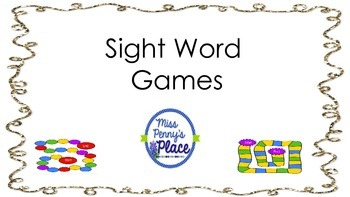 Sight Word Game Center