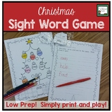 Sight Word Game- Christmas Low Prep!