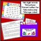 Sight Word Game - Colorful Foxes Roll and Cover {EDITABLE}