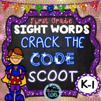 Sight Word Game - Dolch First Grade Sight Words - Mystery Code