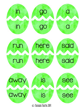 Sight Word Game {Dolch Pre-Primer Sight Word Easter Eggs}