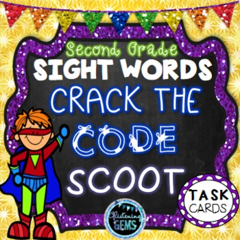 Sight Word Game - Dolch Second Grade Sight Words - Mystery Code