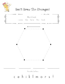 Sight Word Game: Don't Draw the Hexagon (Independant work/activity)