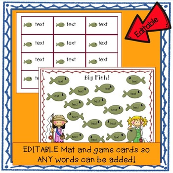 Sight Word Game FREEBIE: Big Fish Bumper Word Game