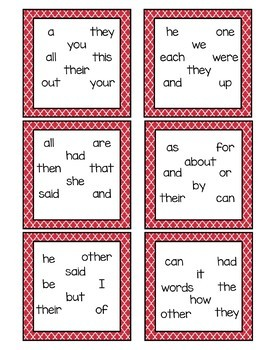 Sight Word Game - FRY First 100