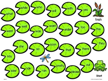 Sight Word Games, Activites & Flashcards