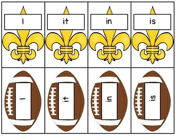 Sight Word Game: Football Theme