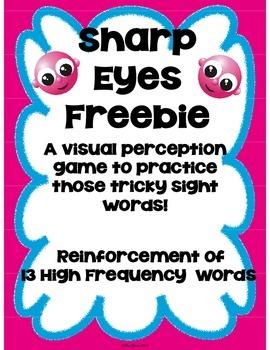 Sight Word Game Freebie