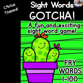 "Sight Word Game ""Gotcha!"" Fry Words 1-100"