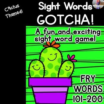 "Sight Word Game ""Gotcha!"" Fry Words 100-200"